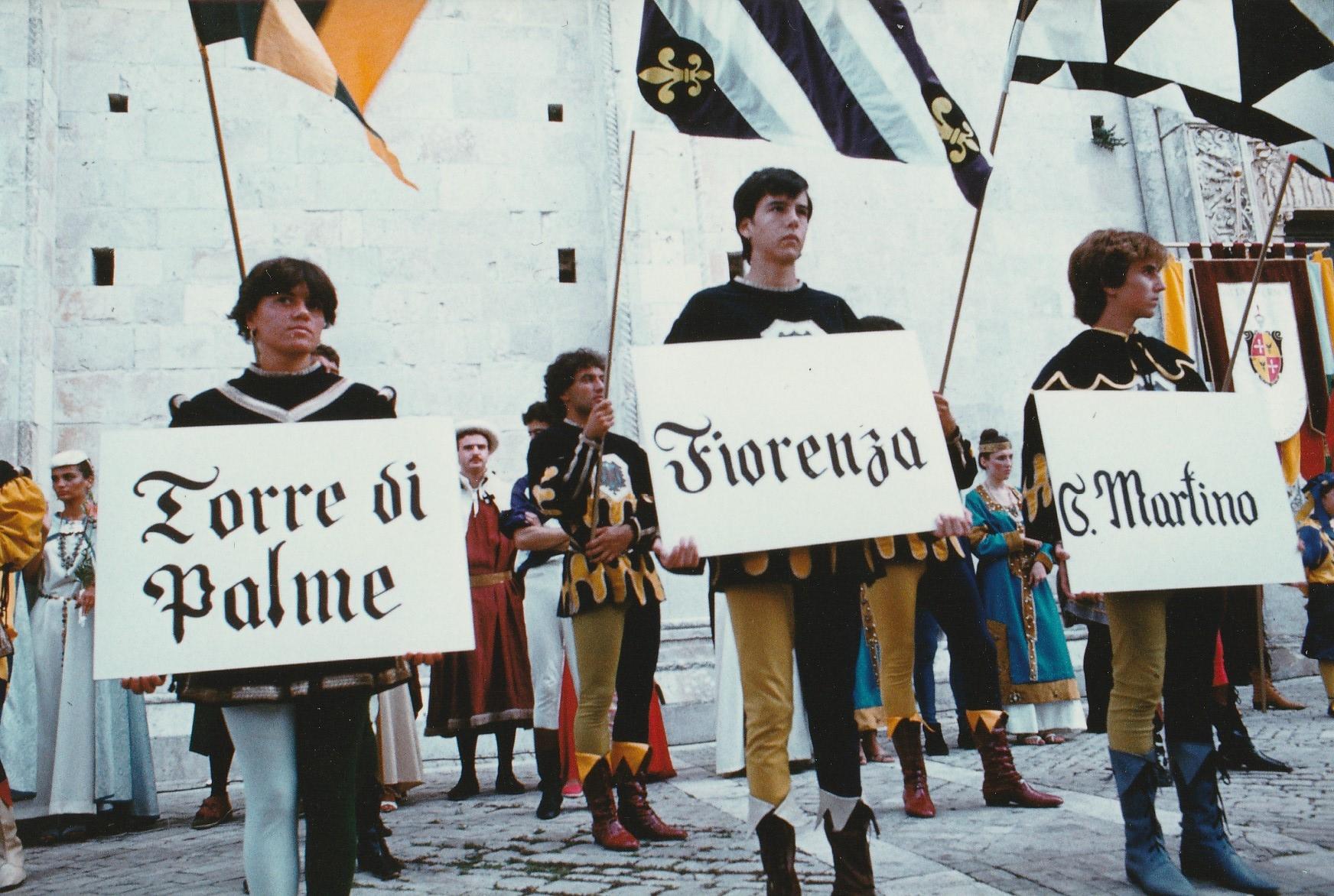 palio 1982  davanti alla Cattedrale