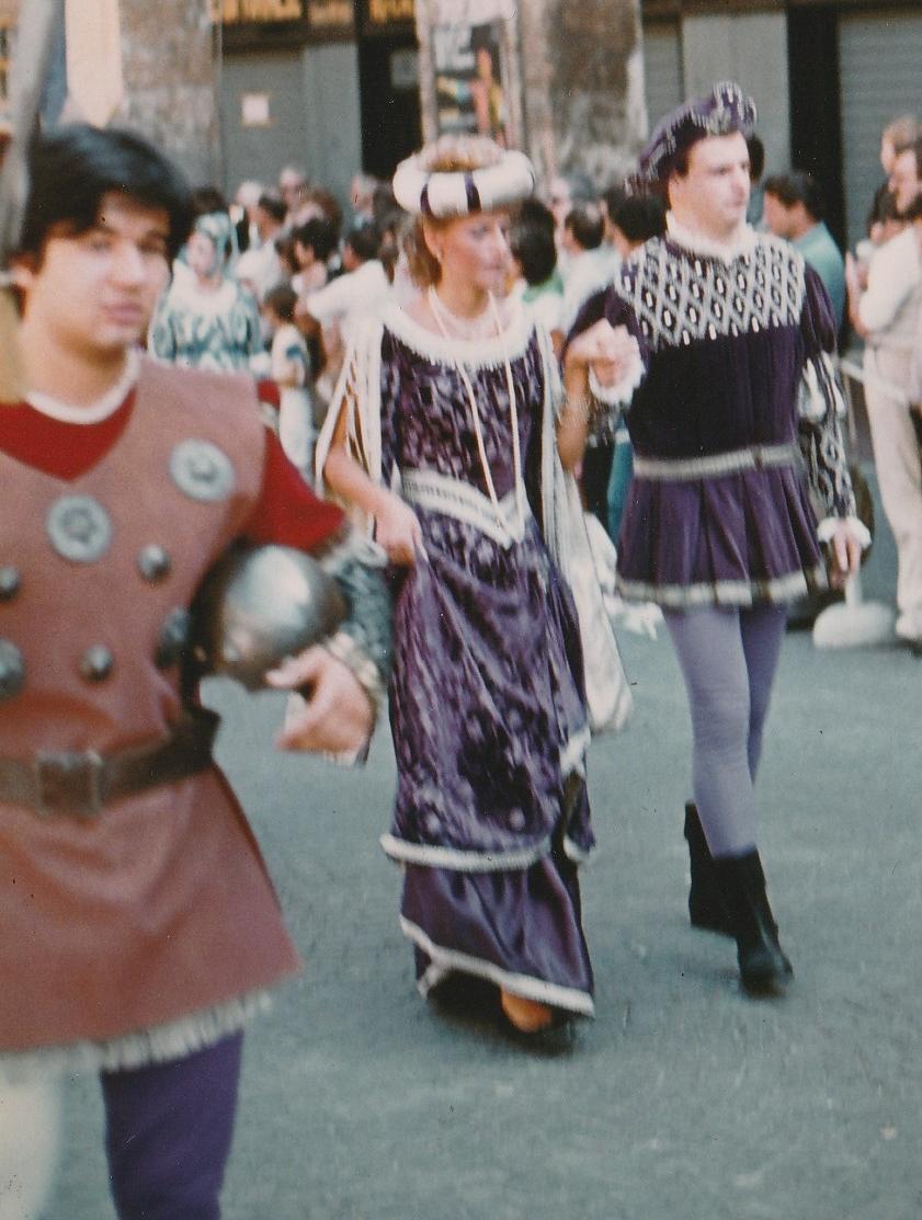 Palio 83  Dama-Cavaliere e lo scudiero Marco Malaspina