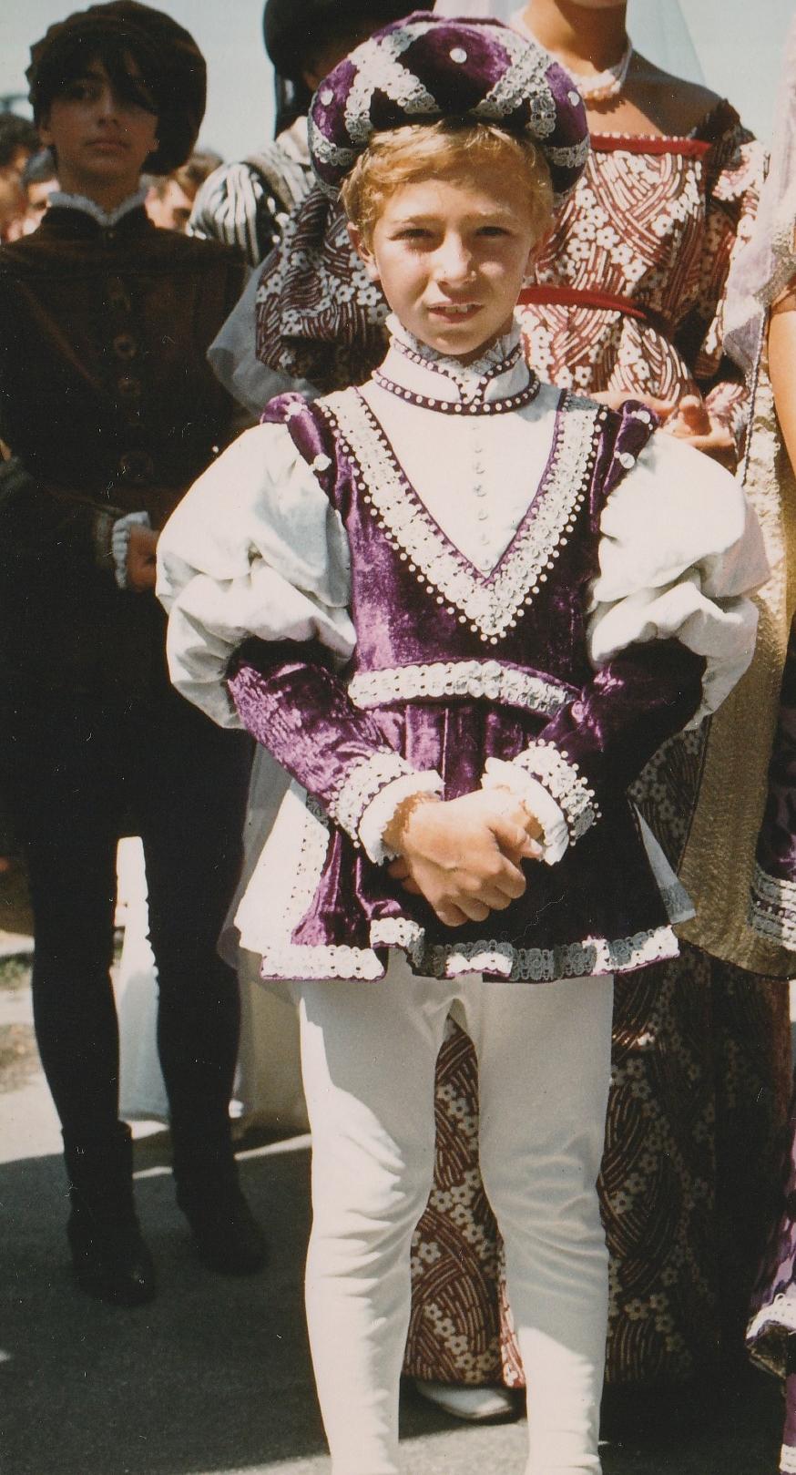 Palio 83 - il paggetto Alessandro Nando Marrozzini