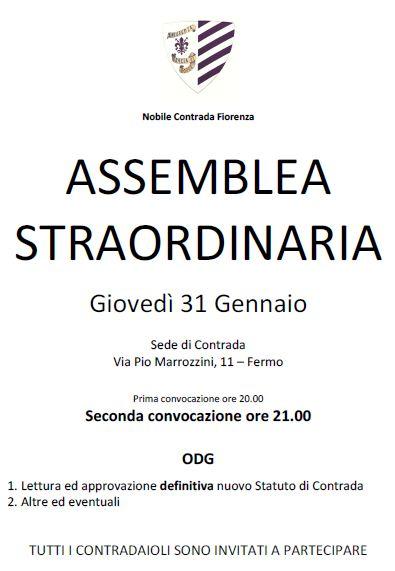 Assemblea Straordinaria Contrada 31.01.3013