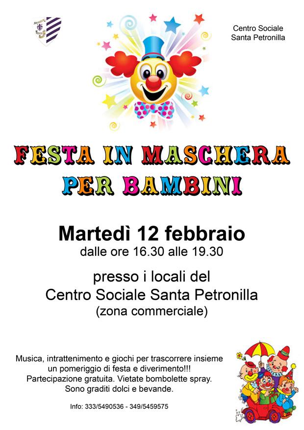 locandina festa carnevale per bambini web